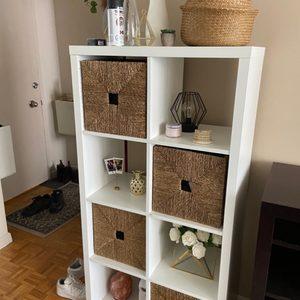 White IKEA Kallax shelf